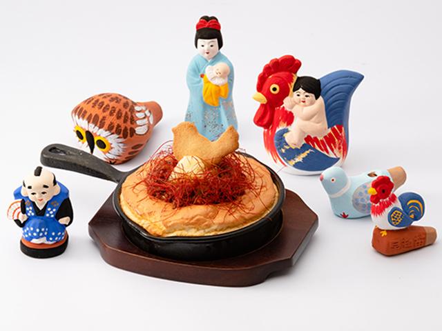 炎の弓野人形パンケーキ